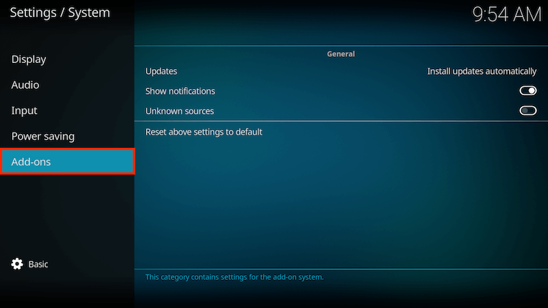 Enable Unknown Sources On Kodi 17 Step 3