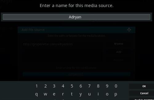 How To Install Adryanlist Kodi Addon Step 6