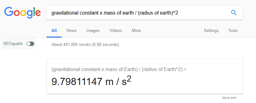 Let Google calculate this for you