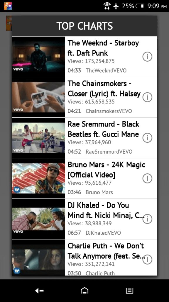 iTube Android App